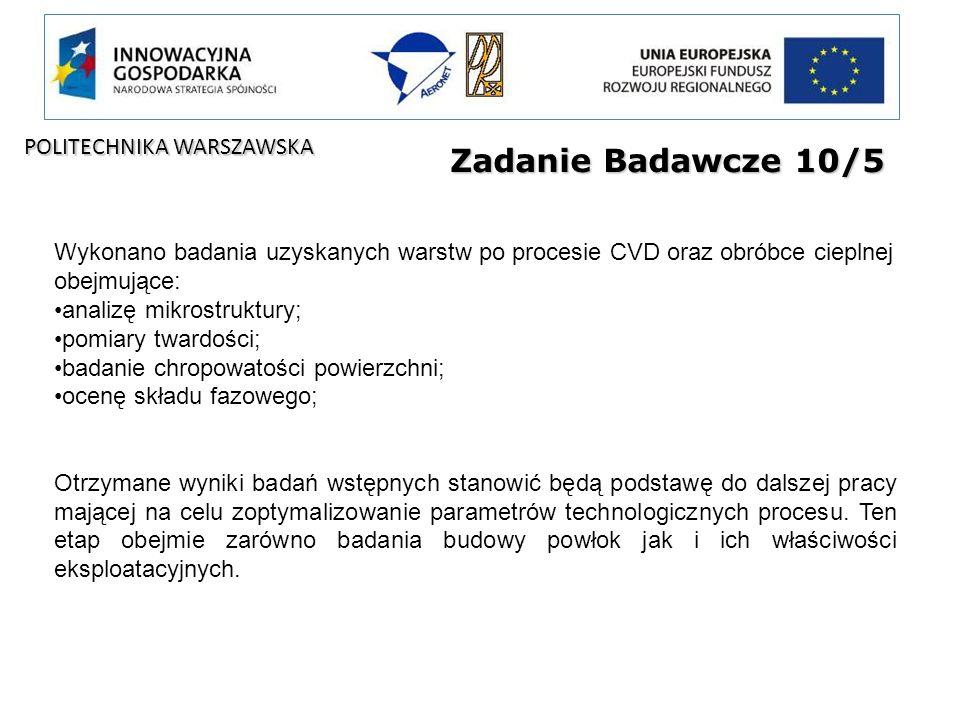 Zadanie Badawcze 10/5 POLITECHNIKA WARSZAWSKA