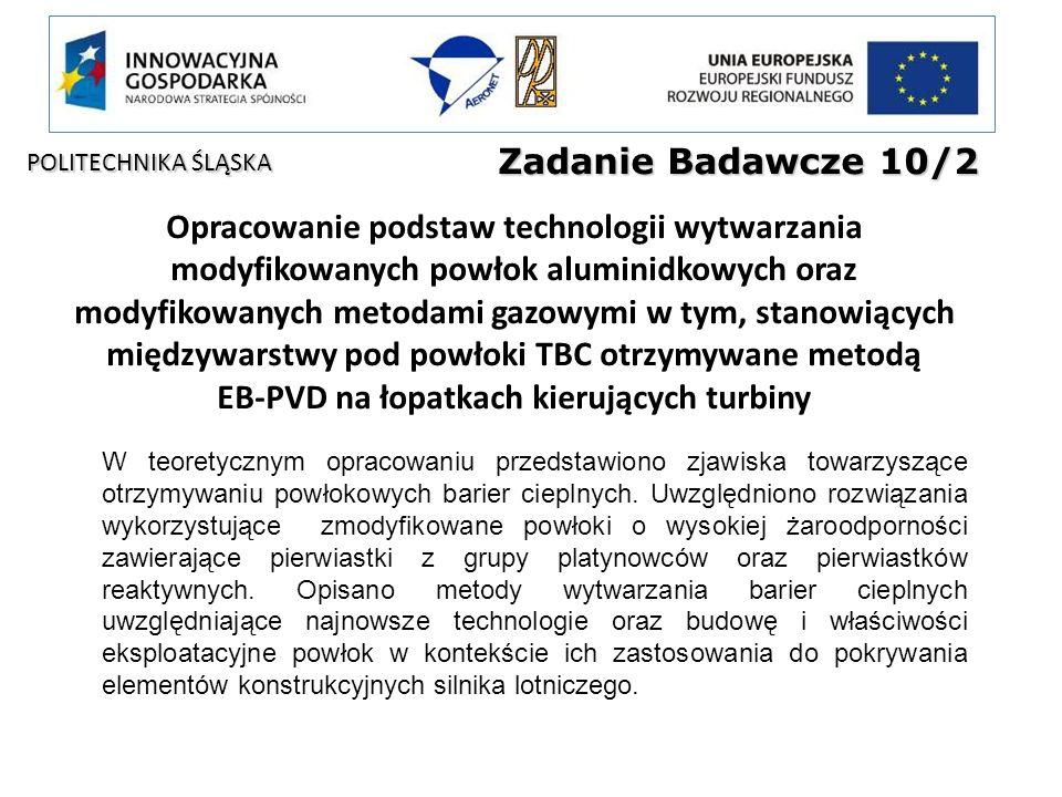 Zadanie Badawcze 10/2 POLITECHNIKA ŚLĄSKA.