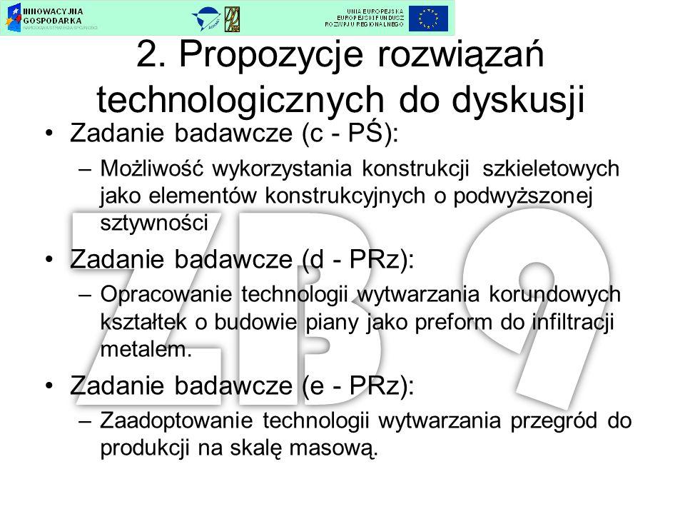 2. Propozycje rozwiązań technologicznych do dyskusji