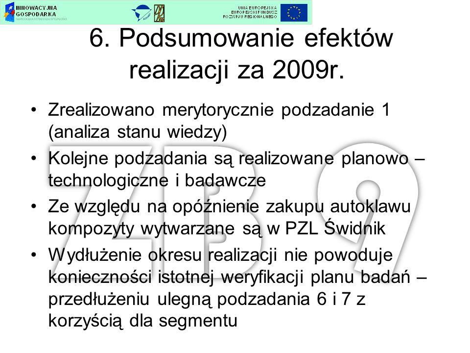 6. Podsumowanie efektów realizacji za 2009r.