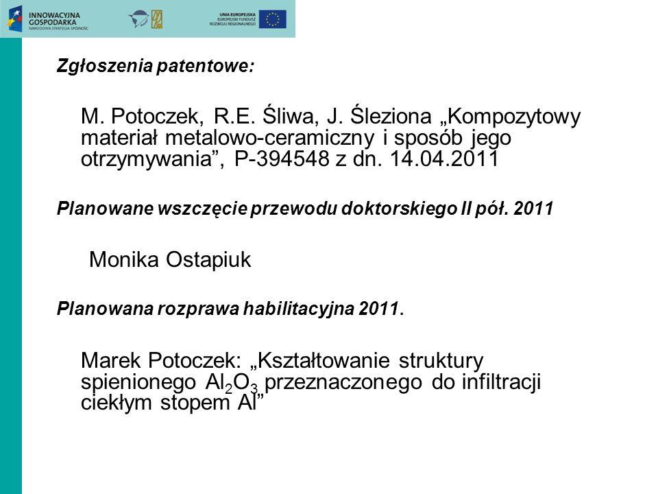 Zgłoszenia patentowe: