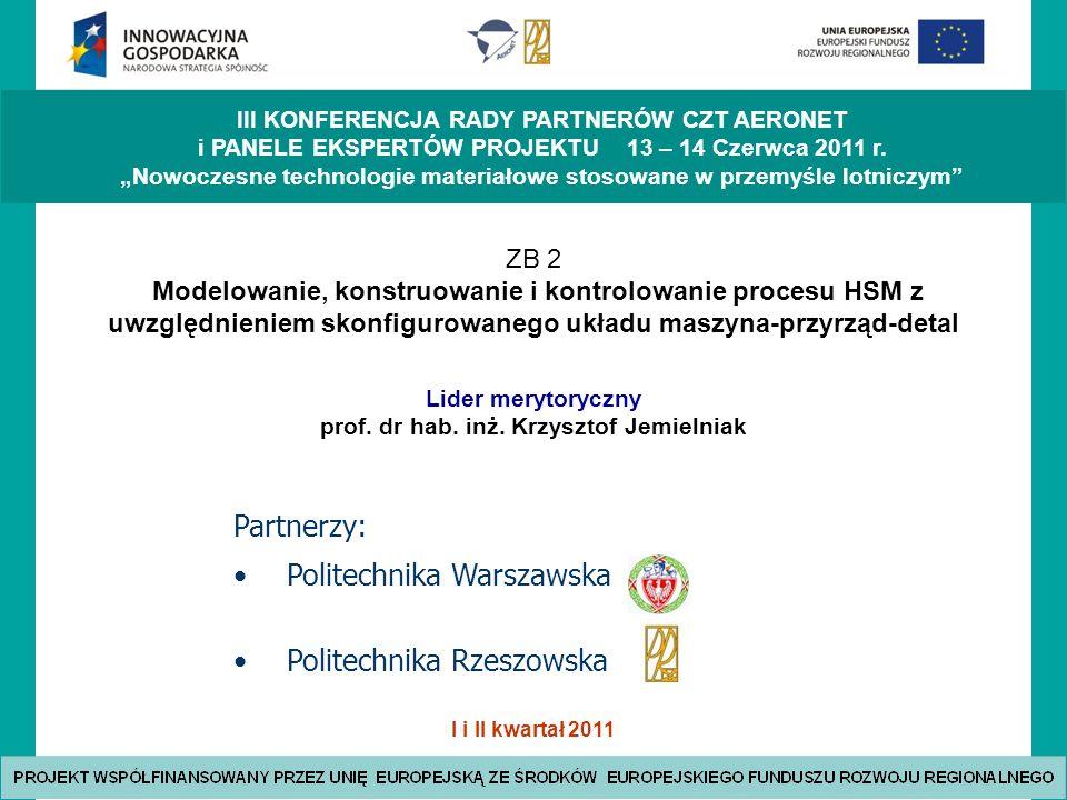 Lider merytoryczny prof. dr hab. inż. Krzysztof Jemielniak