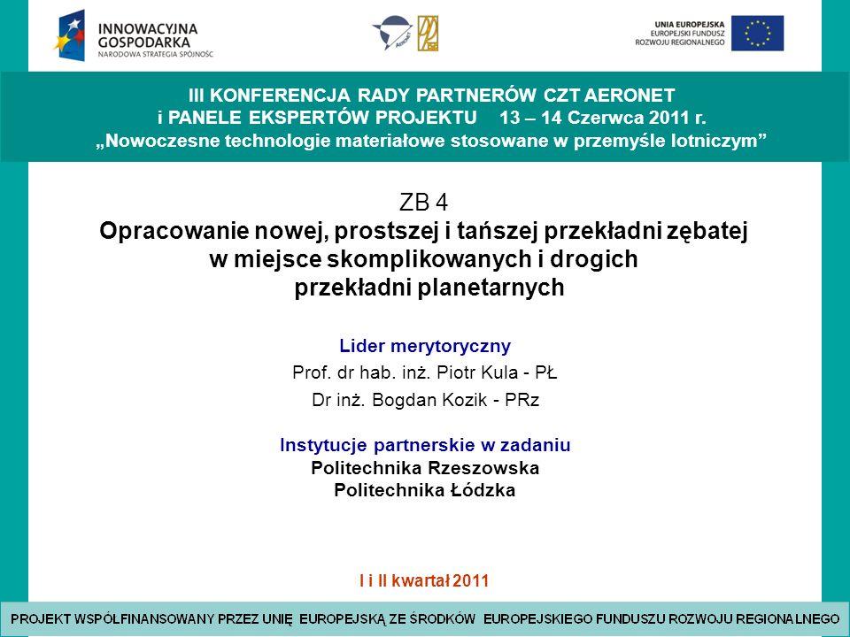 Instytucje partnerskie w zadaniu Politechnika Rzeszowska