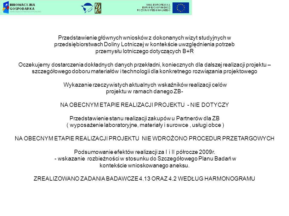 Przedstawienie głównych wniosków z dokonanych wizyt studyjnych w