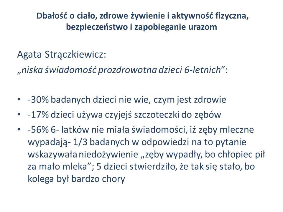 """Agata Strączkiewicz: """"niska świadomość prozdrowotna dzieci 6-letnich :"""