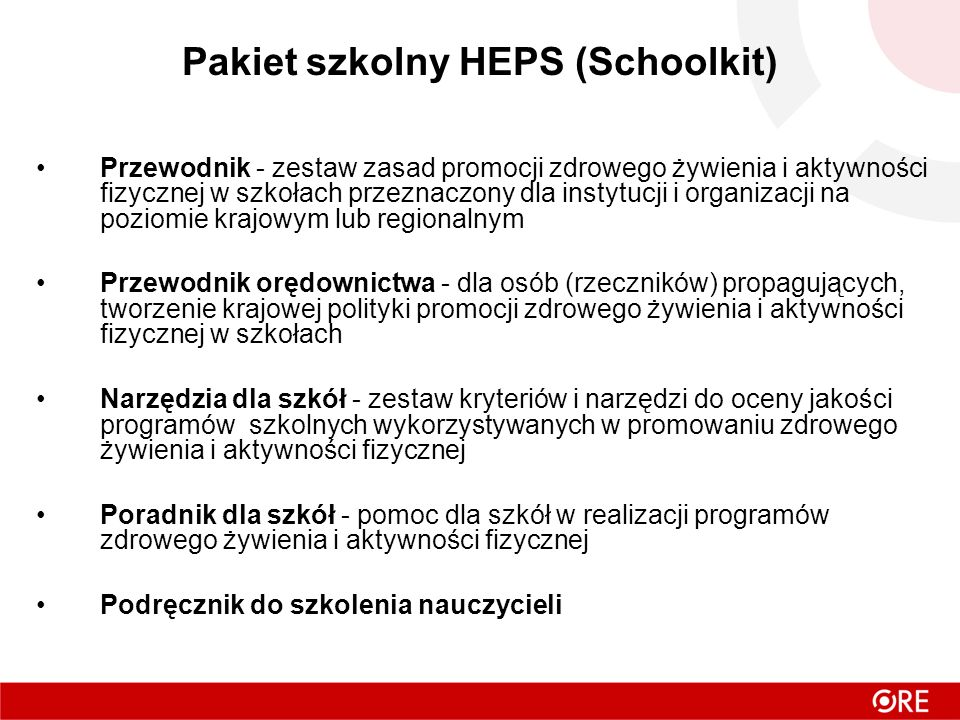 Pakiet szkolny HEPS (Schoolkit)