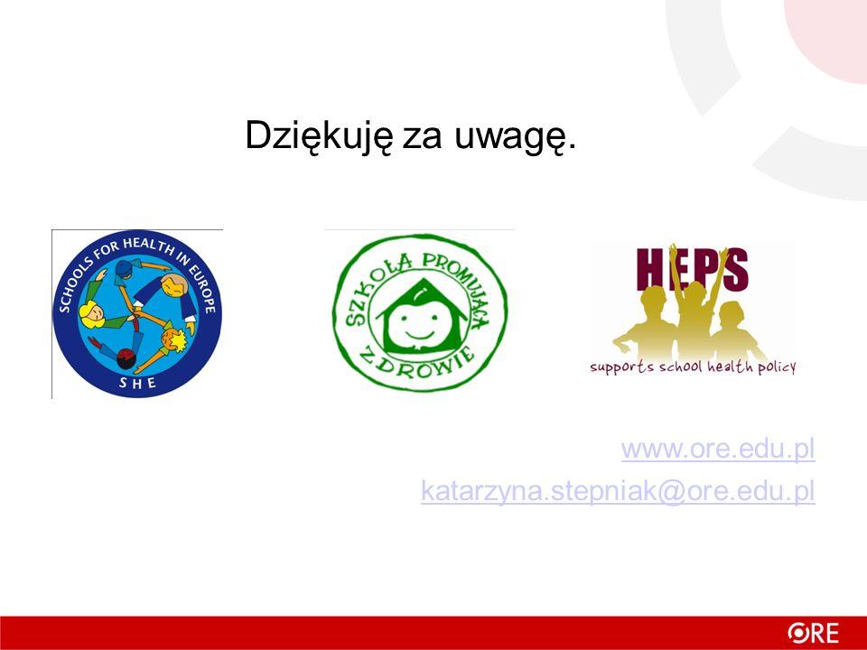 Dziękuję za uwagę. www.ore.edu.pl katarzyna.stepniak@ore.edu.pl