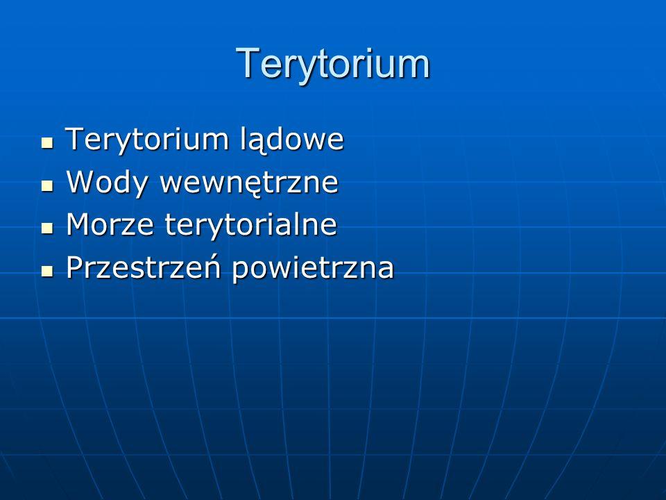 Terytorium Terytorium lądowe Wody wewnętrzne Morze terytorialne