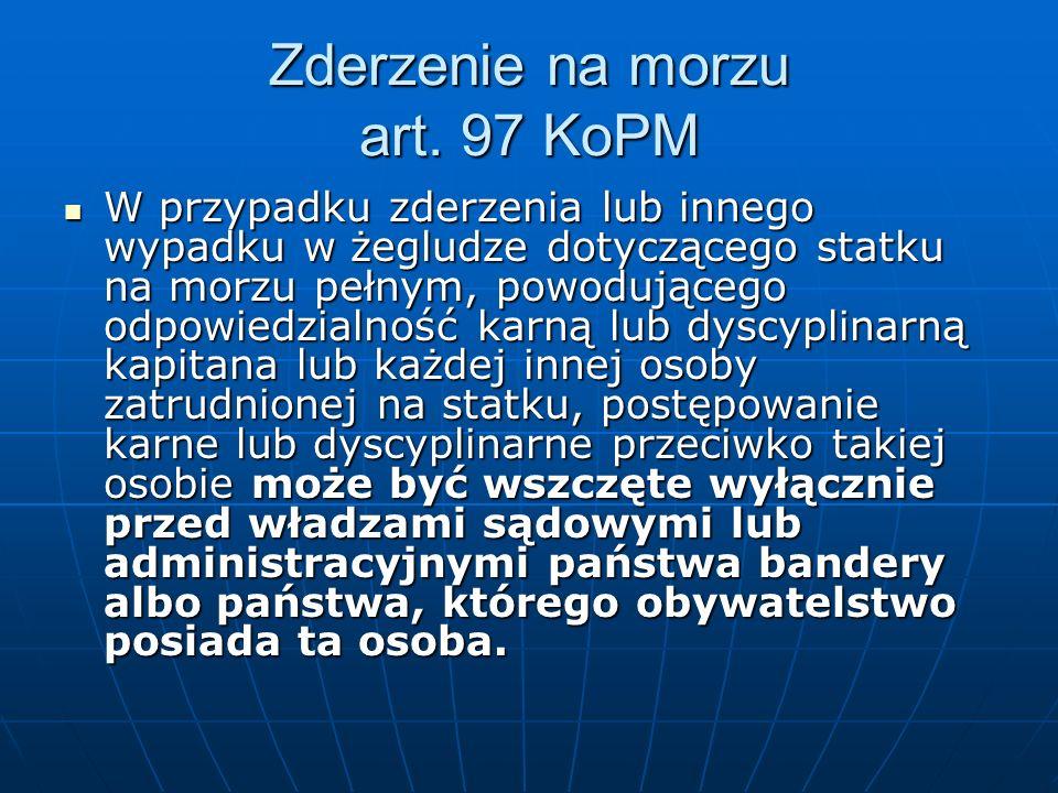 Zderzenie na morzu art. 97 KoPM