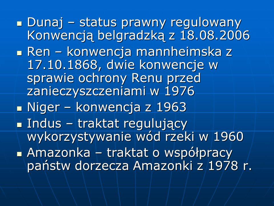 Dunaj – status prawny regulowany Konwencją belgradzką z 18.08.2006