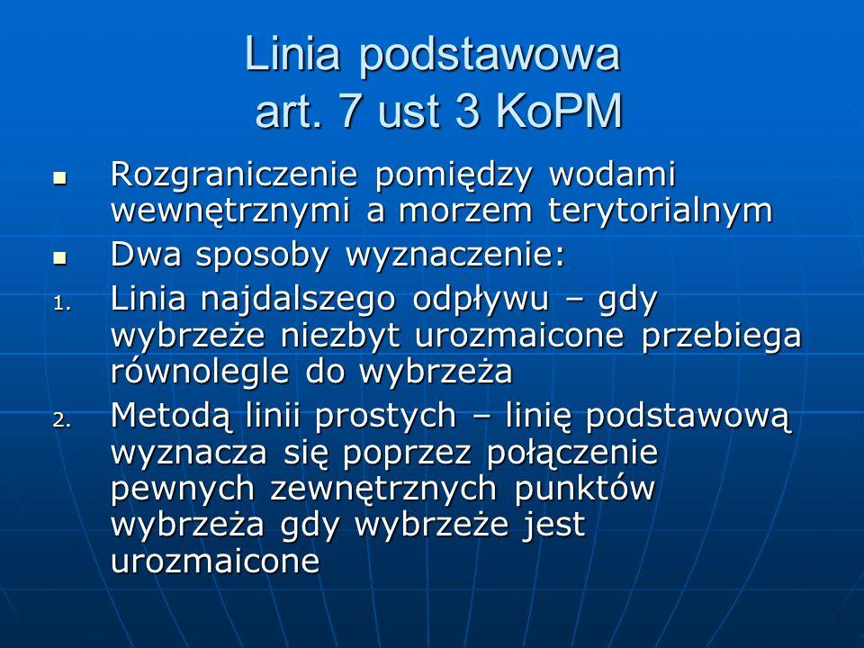 Linia podstawowa art. 7 ust 3 KoPM