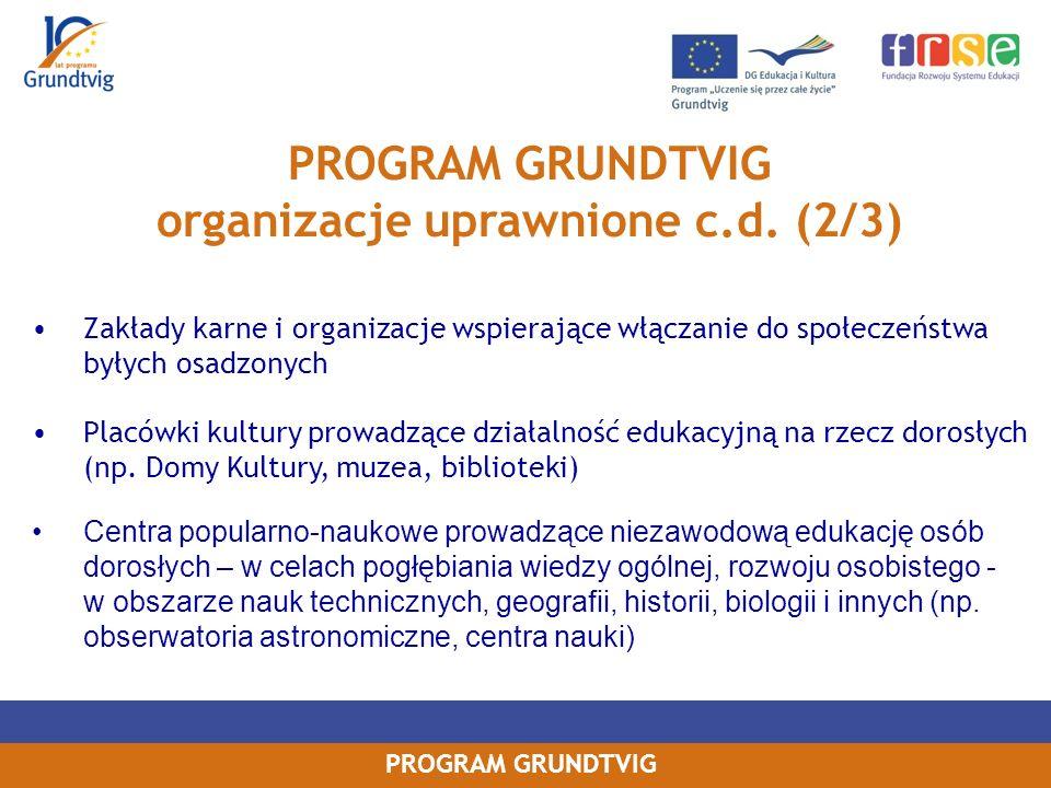 organizacje uprawnione c.d. (2/3)