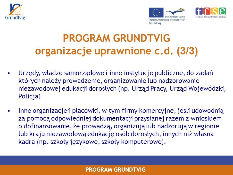 organizacje uprawnione c.d. (3/3)