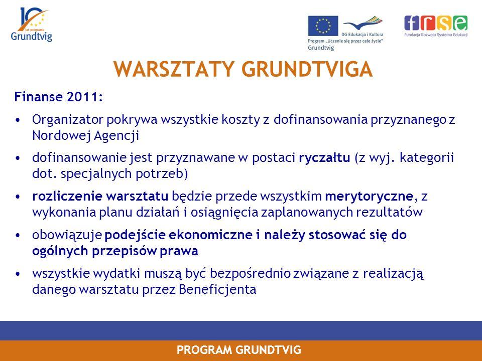 WARSZTATY GRUNDTVIGA Finanse 2011: