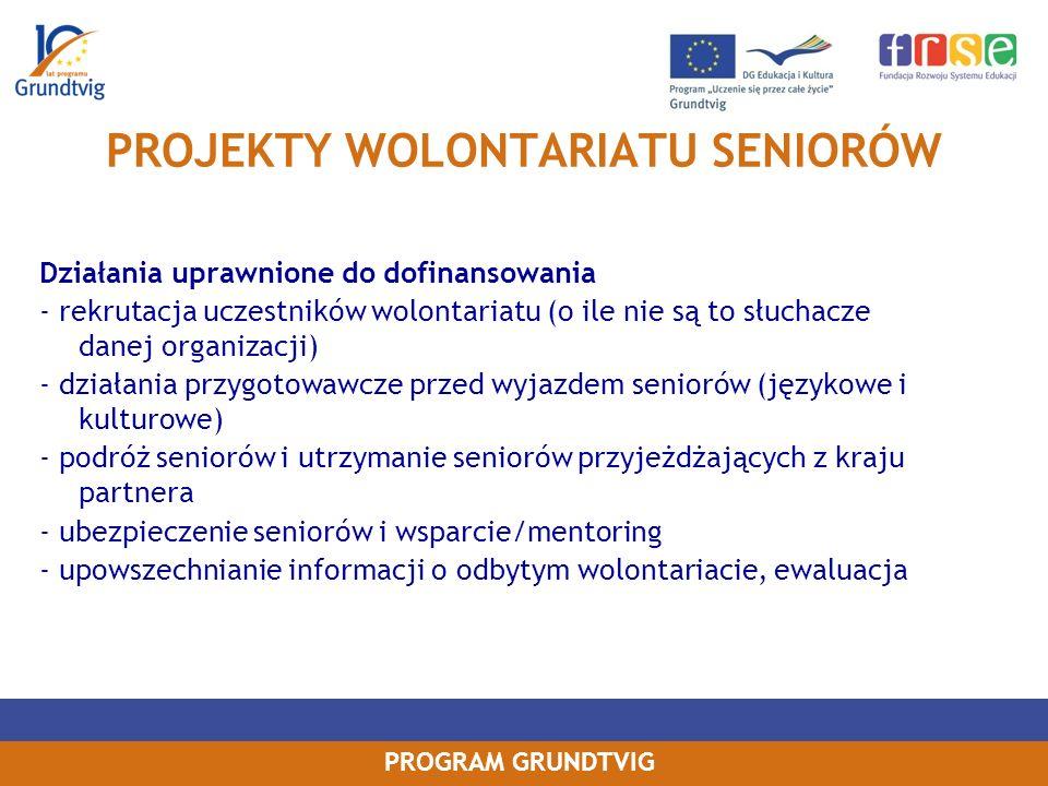 PROJEKTY WOLONTARIATU SENIORÓW