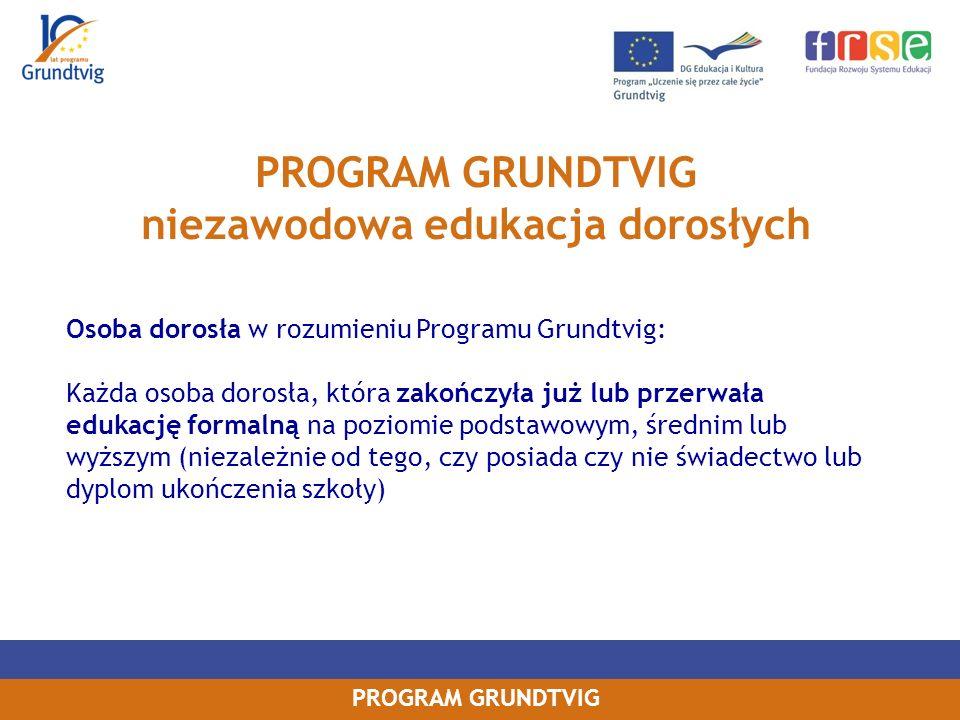 PROGRAM GRUNDTVIG niezawodowa edukacja dorosłych