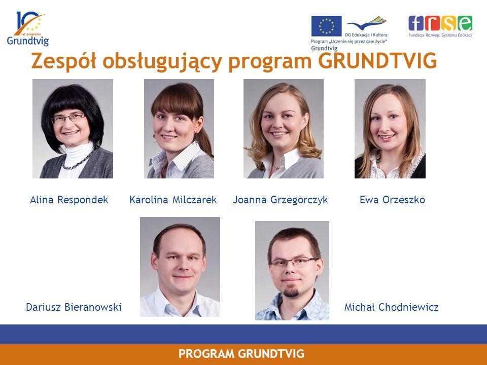 Zespół obsługujący program GRUNDTVIG