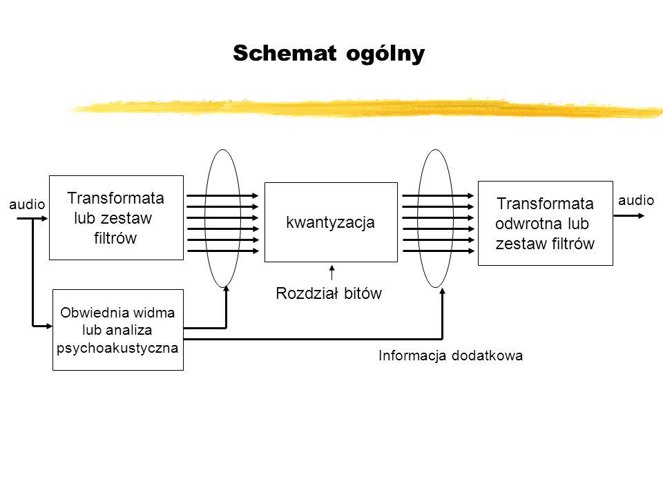 Schemat ogólny Transformata Transformata lub zestaw kwantyzacja