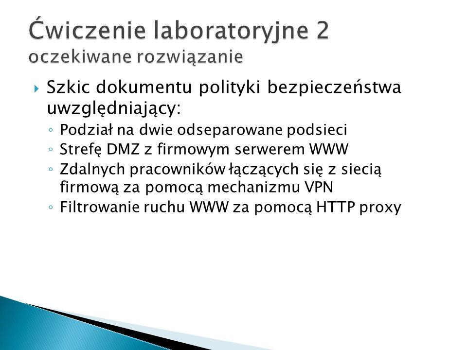 Ćwiczenie laboratoryjne 2 oczekiwane rozwiązanie