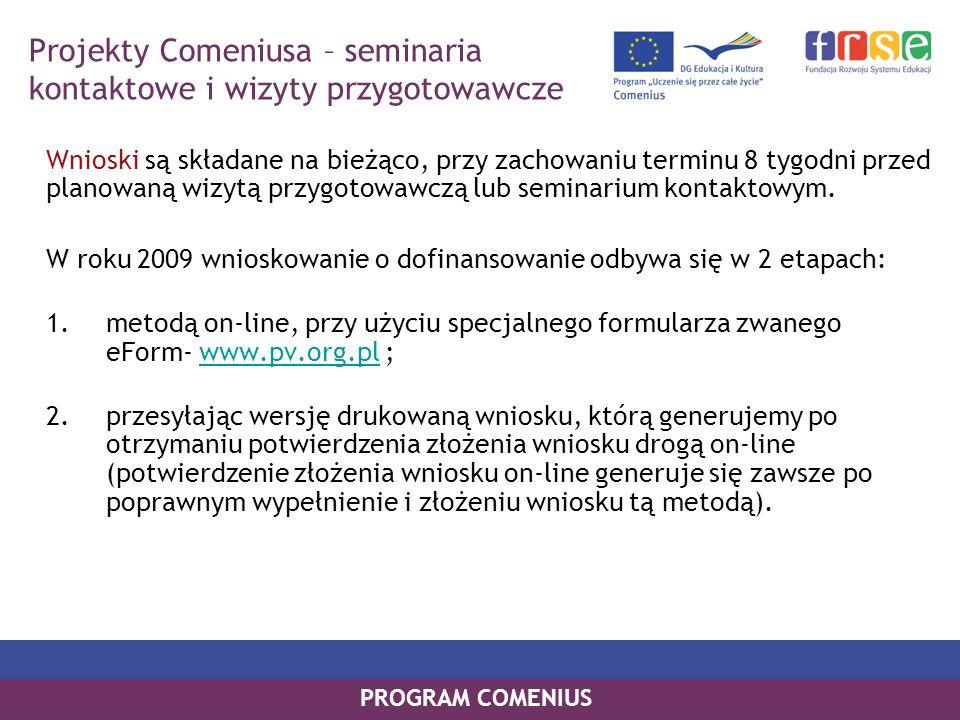 Projekty Comeniusa – seminaria kontaktowe i wizyty przygotowawcze