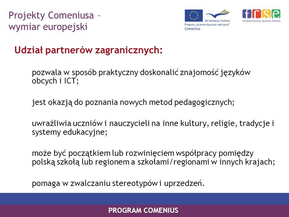 Projekty Comeniusa – wymiar europejski
