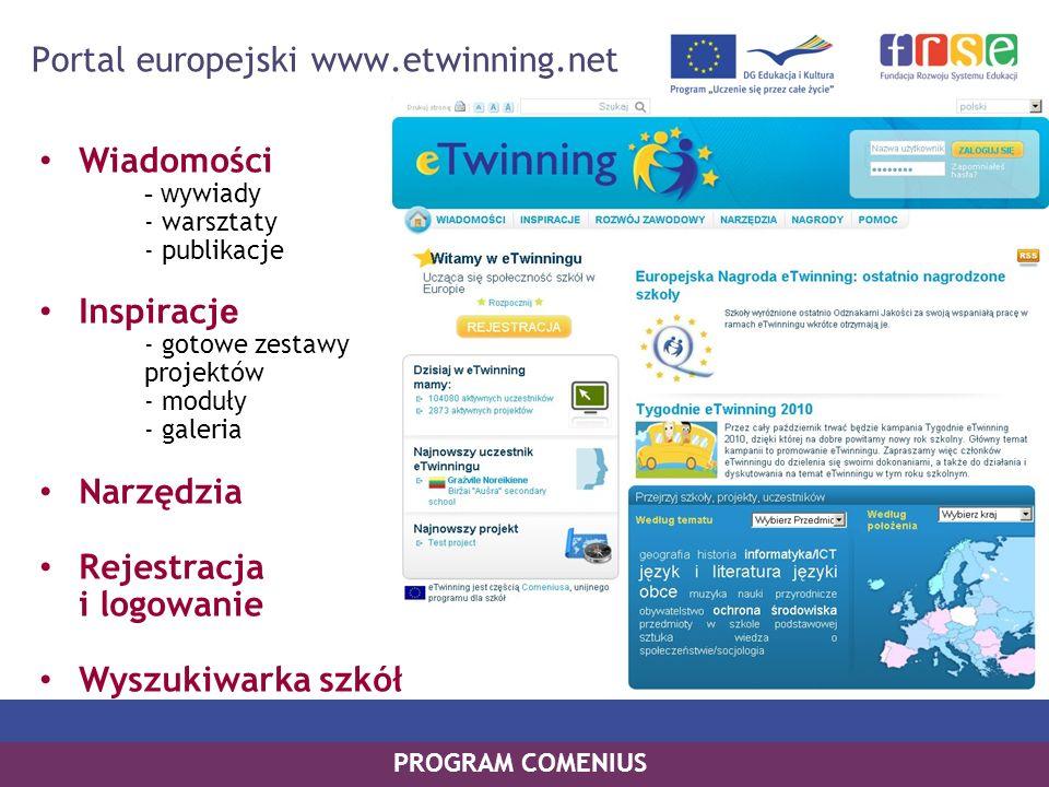 Portal europejski www.etwinning.net