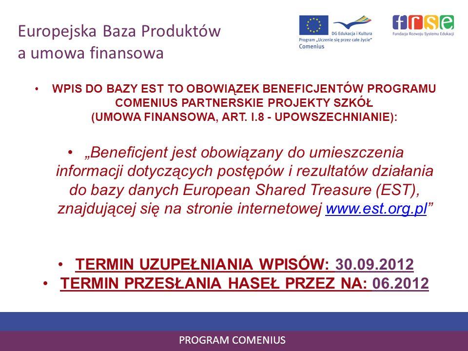 Europejska Baza Produktów a umowa finansowa