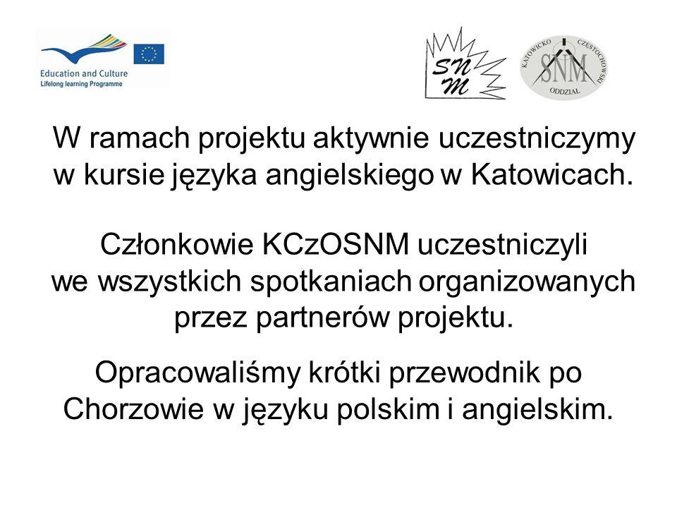 W ramach projektu aktywnie uczestniczymy w kursie języka angielskiego w Katowicach.