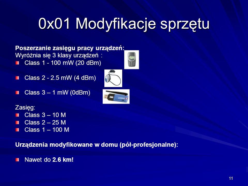 0x01 Modyfikacje sprzętu Poszerzanie zasięgu pracy urządzeń: