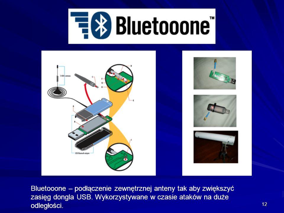 Bluetooone – podłączenie zewnętrznej anteny tak aby zwiększyć zasięg dongla USB.
