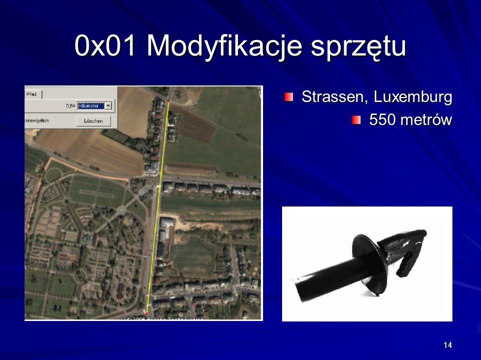 0x01 Modyfikacje sprzętu Strassen, Luxemburg 550 metrów
