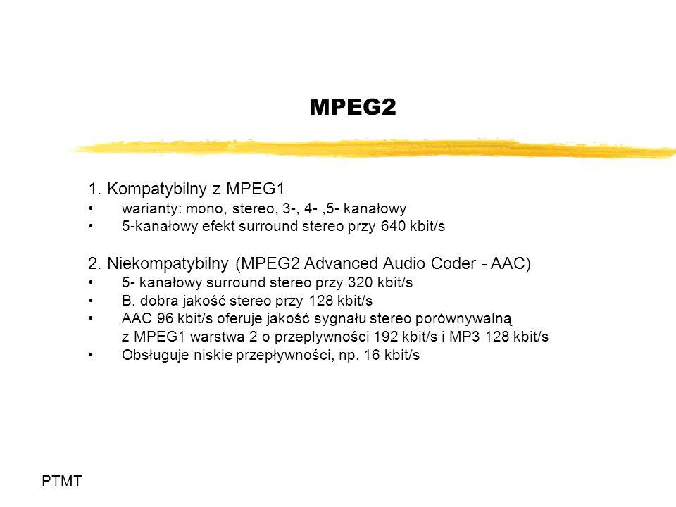 MPEG2 1. Kompatybilny z MPEG1