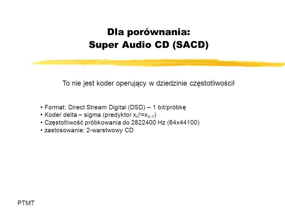 Dla porównania: Super Audio CD (SACD)