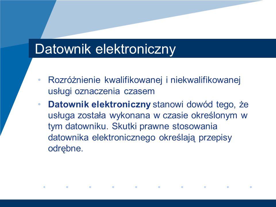 Datownik elektroniczny