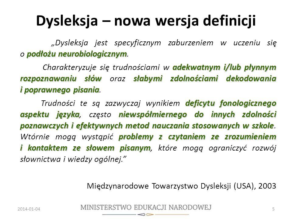 Dysleksja – nowa wersja definicji