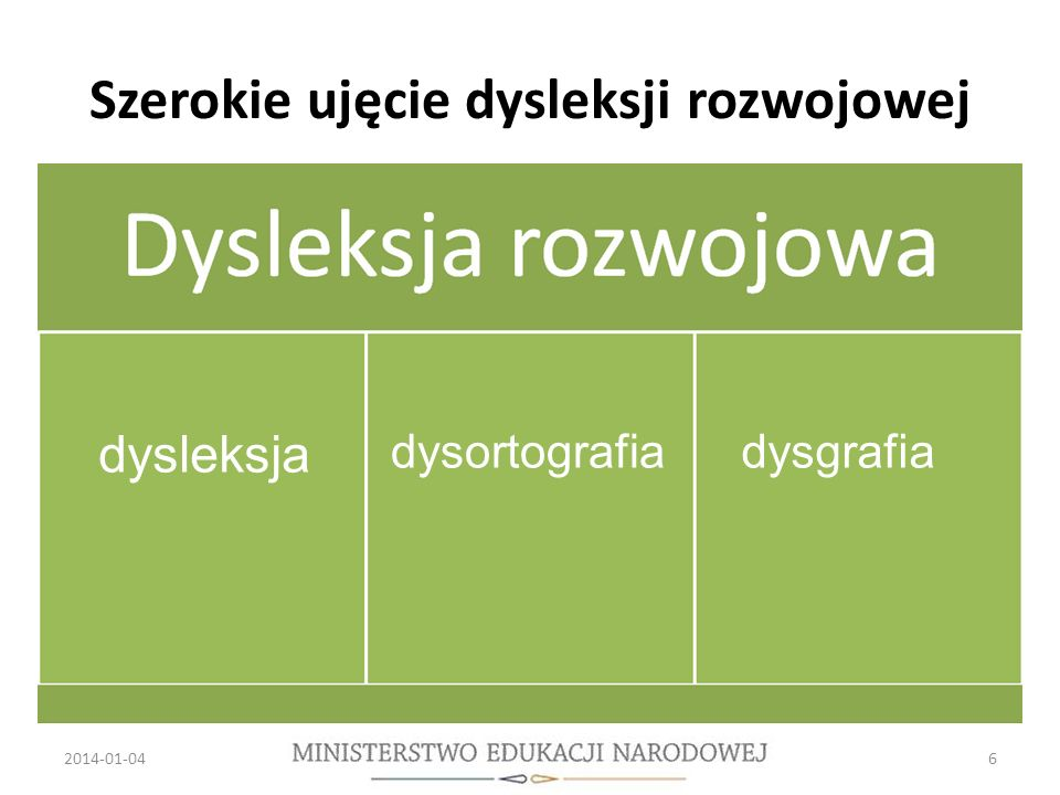 Szerokie ujęcie dysleksji rozwojowej