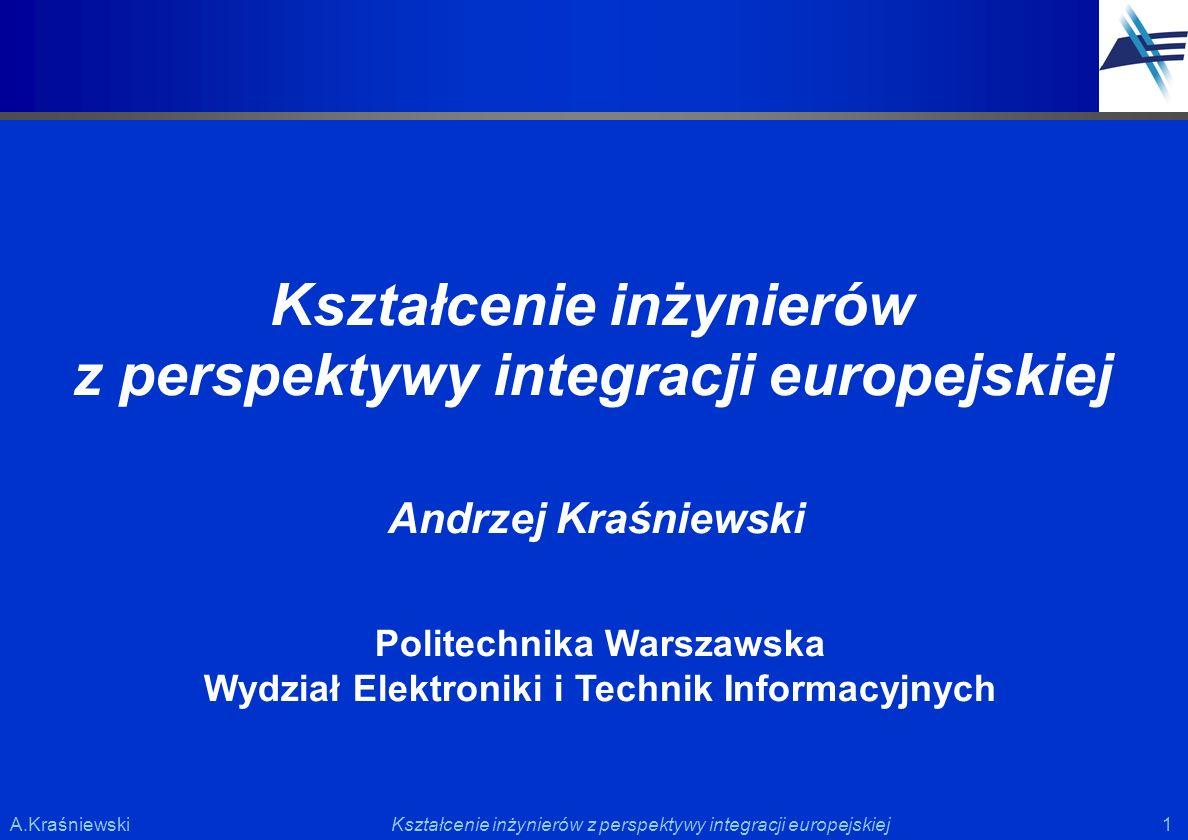 Kształcenie inżynierów z perspektywy integracji europejskiej