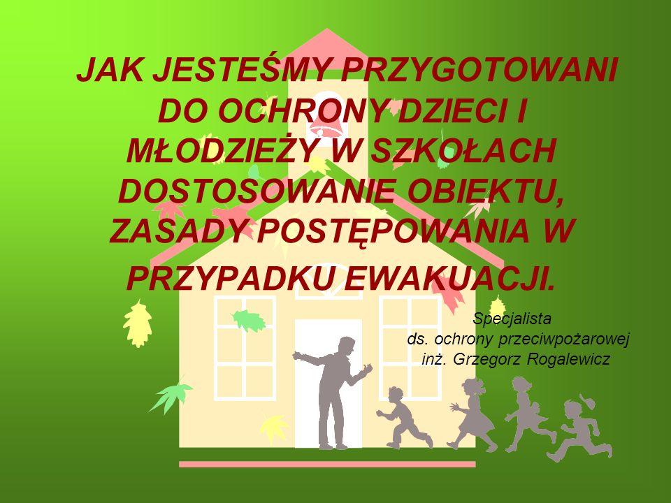 Specjalista ds. ochrony przeciwpożarowej inż. Grzegorz Rogalewicz