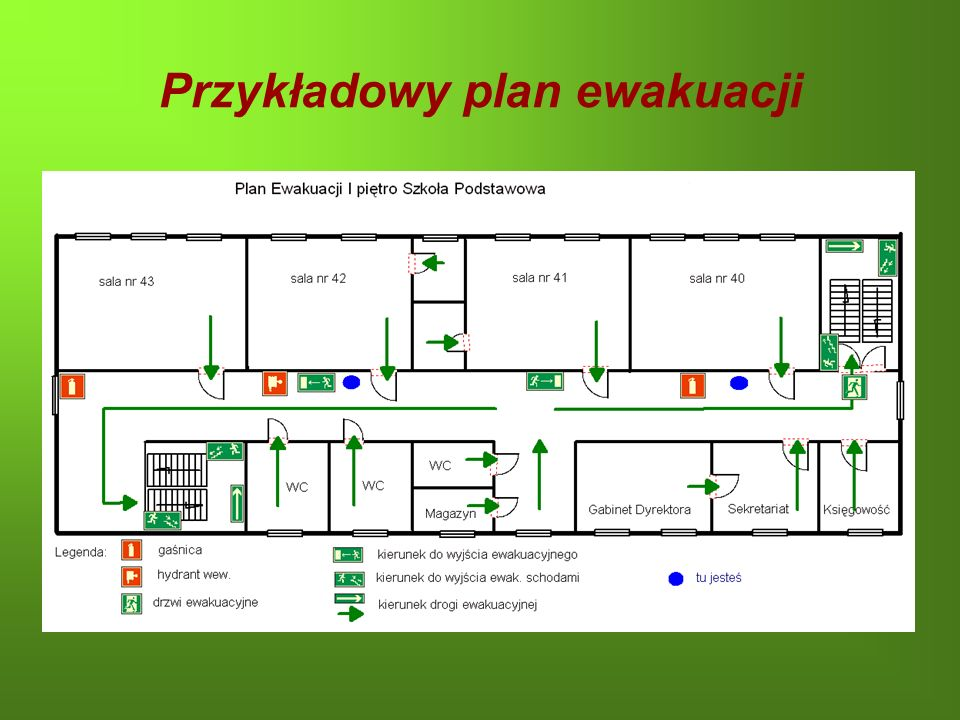 Przykładowy plan ewakuacji