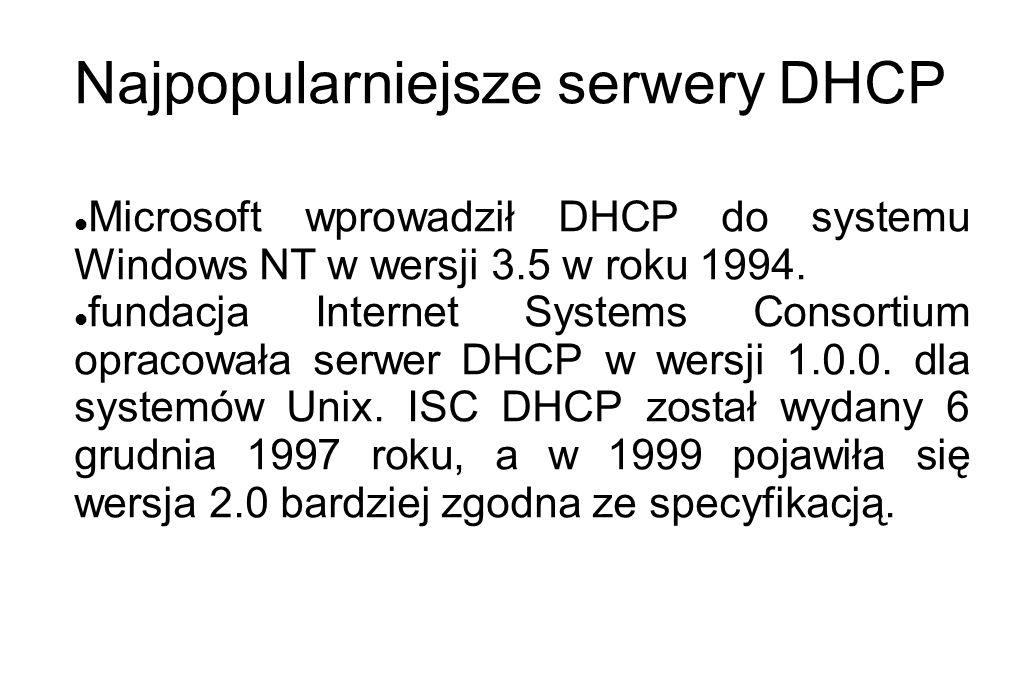 Najpopularniejsze serwery DHCP