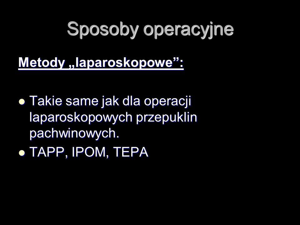 """Sposoby operacyjne Metody """"laparoskopowe :"""