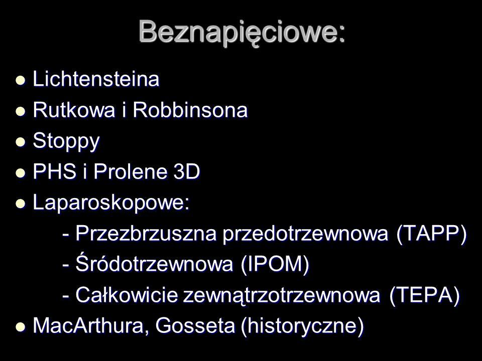 Beznapięciowe: Lichtensteina Rutkowa i Robbinsona Stoppy