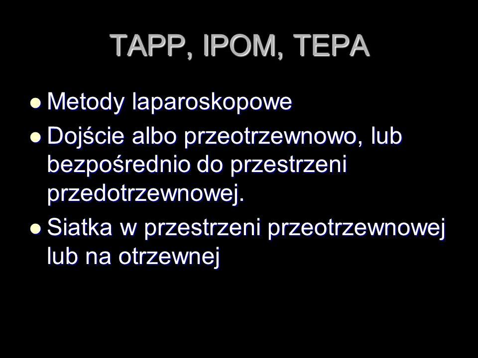 TAPP, IPOM, TEPA Metody laparoskopowe