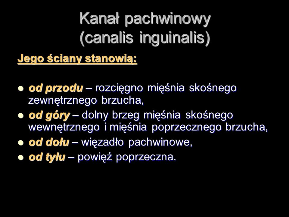 Kanał pachwinowy (canalis inguinalis)
