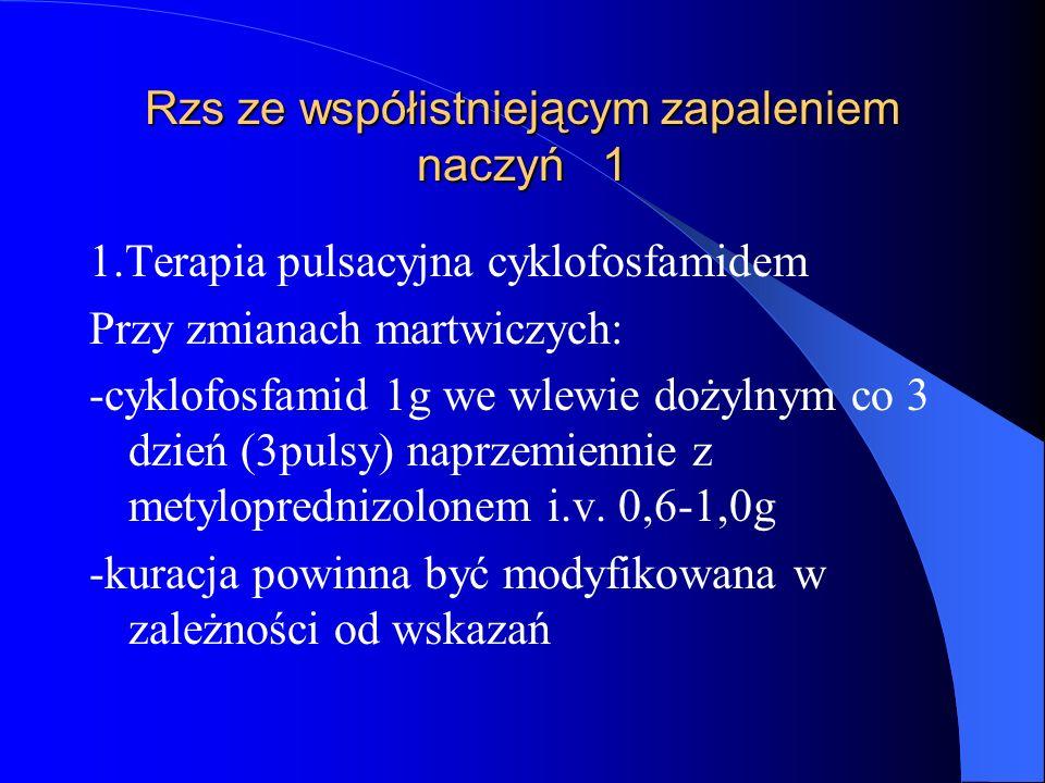 Rzs ze współistniejącym zapaleniem naczyń 1