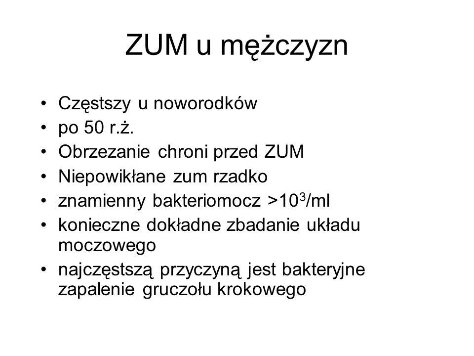 ZUM u mężczyzn Częstszy u noworodków po 50 r.ż.