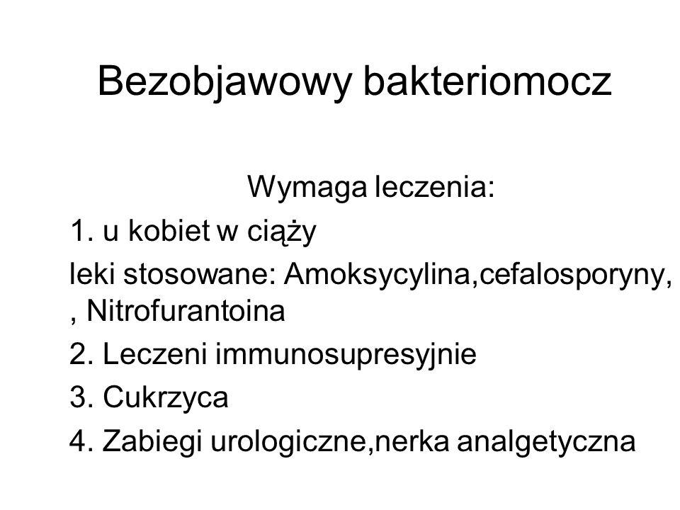 Bezobjawowy bakteriomocz