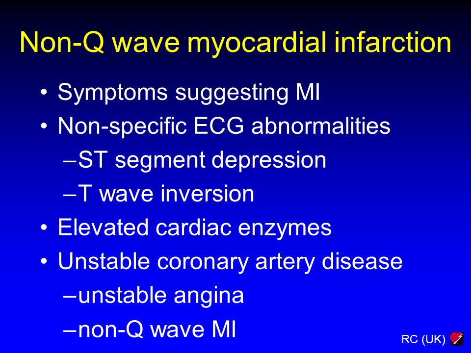 Non-Q wave myocardial infarction