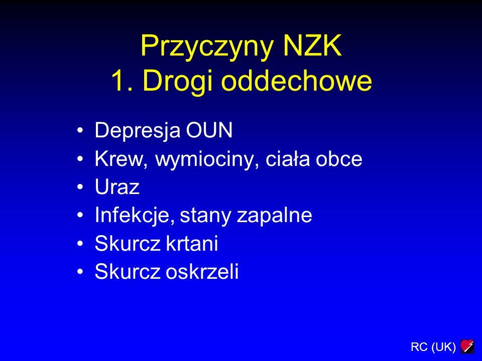 Przyczyny NZK 1. Drogi oddechowe