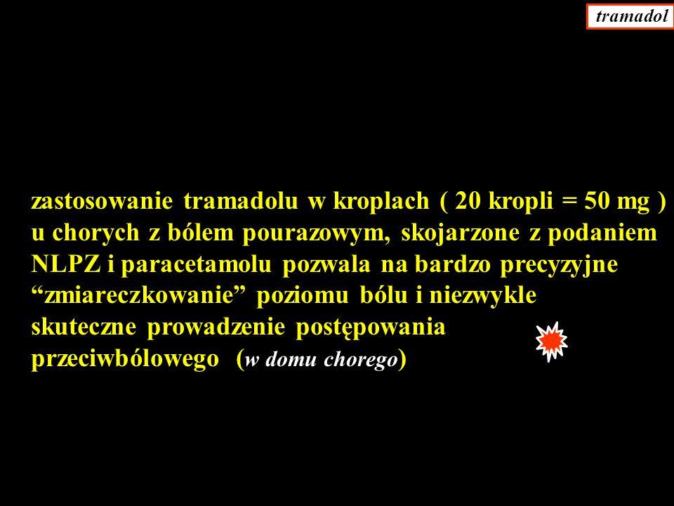 zastosowanie tramadolu w kroplach ( 20 kropli = 50 mg )